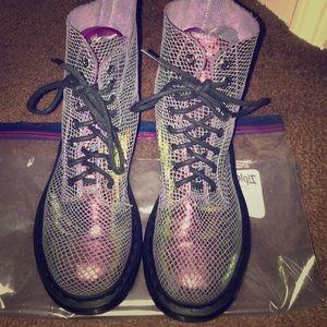 Dr. Martens pascal purple iridescent boots
